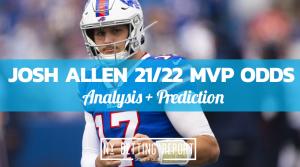 Josh Allen MVP odds
